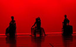 Tanz im Rot Lizenzfreie Stockfotografie