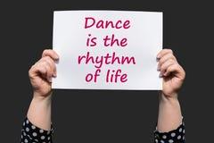 Tanz ist der Rhythmus des Lebens lizenzfreies stockbild