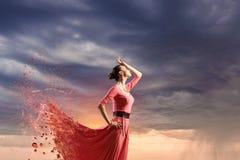 Tanz ist ihre Leidenschaft lizenzfreie stockbilder
