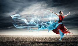 Tanz mit Leidenschaft stockfoto