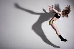 Tanz mit Schatten Stockfotografie