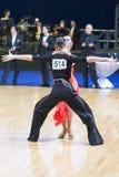 Tanz-Paare von Moiseenko Nikita und von Makarova Elena Performs Adults Latin-American Program Stockbild
