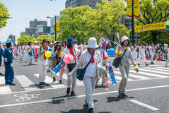 Tanz-Parade Kinsai Yosakoi stockfotos