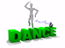 Tanz XXL Stockbild