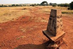 Tanzańczyk granica Zdjęcie Stock