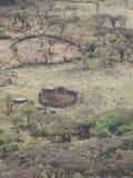 Tanzańska zulu wioska Obraz Royalty Free