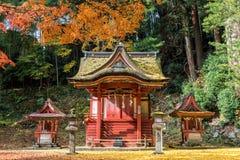 Tanzan寺庙在秋天,奈良县,日本 库存照片