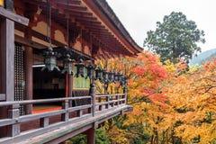 Tanzan寺庙在秋天,奈良县,日本 免版税图库摄影