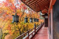 Tanzan寺庙在秋天,奈良县,日本 免版税库存图片