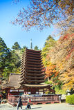 Tanzan Shrine at fall for adv or others purpose use Stock Photo
