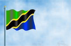 Tanzania. National flag of Tanzania Royalty Free Stock Image