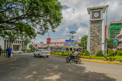 Tanzania - Arusha. Daily activity around the clock tower in the centre of Arusha in Tanzania royalty free stock photo