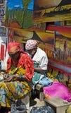 Tanzania. Arusha, local women working in the masai market royalty free stock photos