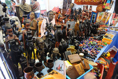 Tanzania crafts store Stock Photos
