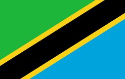 Tanzania flag. Isolated vector in official colors and Proportion Correctly royalty free illustration