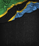 Tanzania Flag Vintage on a Grunge Black Chalkboard Royalty Free Stock Image