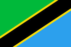 Tanzania flaggalägenhet Arkivbilder