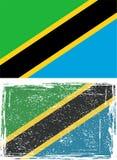 Tanzania grunge flag. Vector illustration Royalty Free Stock Photography