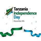 Tanzania Independence Day Vector Template Design Illustration royalty free illustration