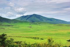 Tanzania green hills, Africa Royalty Free Stock Photography