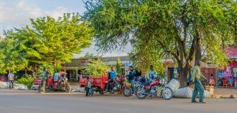 Tanzania - Meer Manyara - Mto wa Mbu Stock Afbeeldingen