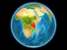 Tanzania op aarde Royalty-vrije Stock Foto's