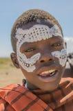 Tanzania - Original Masai inhabitent @ Serengeti National Park Stock Photography