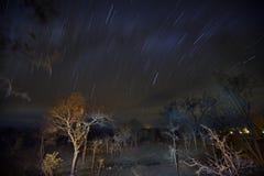 In Tanzania, a photo I took in the night rain stock image