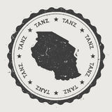 Tanzania, United Republic of hipster round rubber. Royalty Free Stock Photo