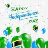 Tanzania, United Republic of Independence Day. Tanzania, United Republic of Independence Day Patriotic Design. Balloons in National Colors of the Country. Happy Stock Photography