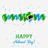 Tanzania, United Republic of Independence Day. Tanzania, United Republic of Independence Day Sparkling Patriotic Poster. Happy Independence Day Card with Stock Images