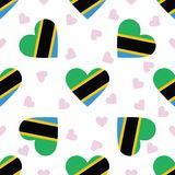 Tanzania, United Republic of independence day. Tanzania, United Republic of independence day seamless pattern. Patriotic background with country national flag Stock Photo