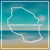 Tanzania, United Republic of map rough outline. Royalty Free Stock Photos