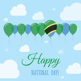 Tanzania, United Republic of National Day Flat. Stock Images