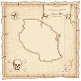 Tanzania, United Republic of old pirate map. Royalty Free Stock Photo