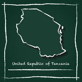 Tanzania, United Republic of outline vector map. Royalty Free Stock Images
