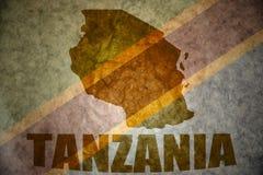 Tanzania vintage map Stock Photography