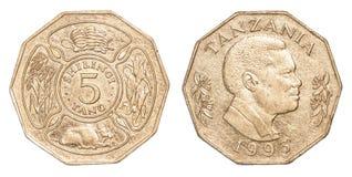 100 Tanzaniaans shillingmuntstuk Royalty-vrije Stock Afbeelding