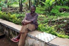 Tanzaniaanse schaakspeler Royalty-vrije Stock Foto's