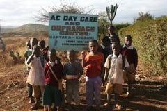 Tanzanian orphanage Stock Photo