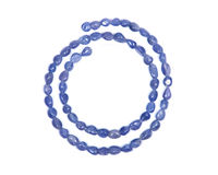 Tanzanite extra quality beads Royalty Free Stock Image