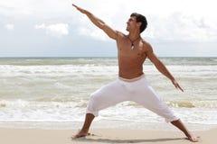 Tanzen auf den Strand Lizenzfreies Stockfoto