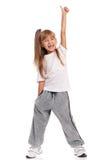 Tanzen des kleinen Mädchens Stockbild