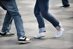 Tanzen-Füße Stockbild