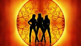 Tanzen-Frauen-Hintergrund Stockbild