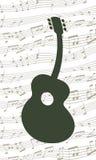 Tanzen-Gitarre Stockfoto