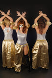 Tanzen mit drei hübsches Mädchen Lizenzfreies Stockfoto