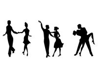 Tanzen mit drei Paaren lizenzfreie abbildung