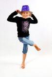 Tanzen mit einem Deckel lizenzfreie stockfotografie