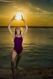 Tanzen mit Sonne Stockfotos